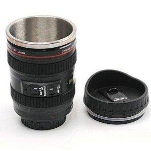 Copo caneca Termica Lente Canon 24-105mm - Copo De Alumínio