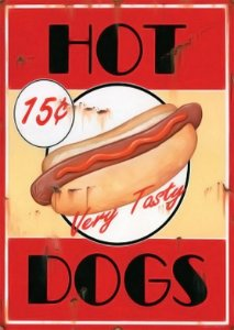 Placa MDF 28 x 20 - Hot Dogs