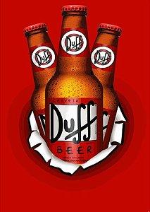 Placa MDF 28 x 20 - Cerveja Duff