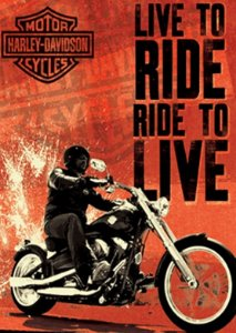 Placa MDF 28 x 20 - Live to Rider Harley Davidson