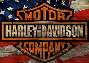 Placa MDF 28 x 20 - Harley Davidson