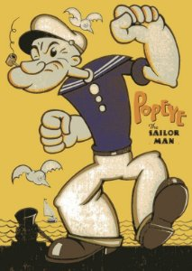 Placa MDF 28 x 20 - Popeye
