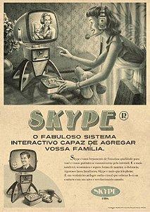 Placa MDF 28 x 20 - Skype