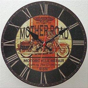 Relógio de Parede Mother Road com 28 cm