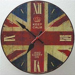 Relógio de Parede Keep Calm com 28 cm
