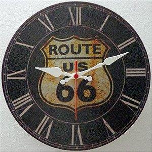 Relógio de Parede Route 66 com 28 cm