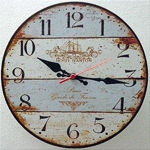 Relógio de Parede Hotel D´Anton Paris com 28 cm