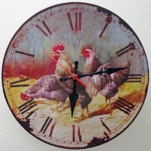 Relógio de Parede Galinhas com 28 cm