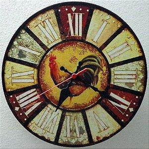 Relógio de Parede Galo com 28 cm