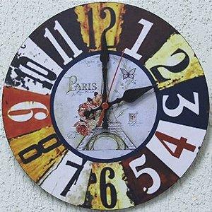 Relógio de Parede Torre Eilfel Paris com 28 cm