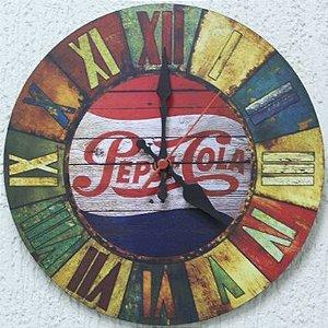 Relógio de Parede Pepsi Cola com 28 cm