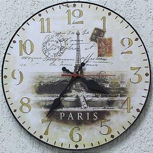 Relógio de Parede Torre Eifel Paris com 28 cm