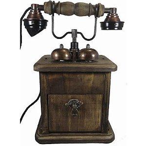 Telefone de mesa com gaveta e campainha Trim Trim no estilo Retrô