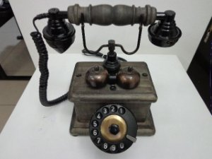 Telefone de mesa com campainha Trim Trim no estilo Retrô
