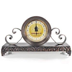 Relógio de Mesa de Ferro - Coffee - Retrô