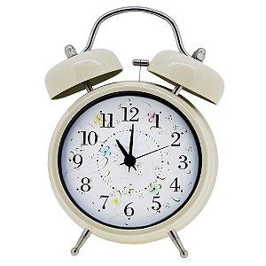 Relógio despertador de mesa estilo Retrô