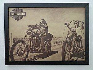 Quadro com moldura Harley Davidson