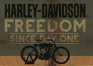 Placa MDF 28 x 20 - Harley Davidson Freedom
