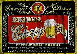 Placa MDF 28 x 20 - Brahma Chopp