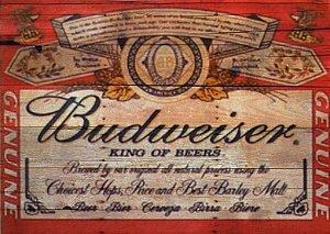 Placa MDF 28 x 20 - Budweiser