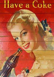 Placa MDF 28 x 20 - Coca Cola