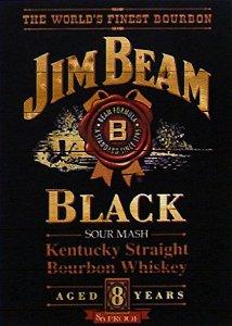 Placa MDF 28 x 20 - Jim Beam Black