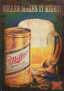 Placa MDF 28 x 20 - Miller