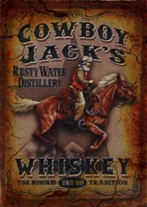Placa MDF 28 x 20 - Whiskey Cowboy Jack´s
