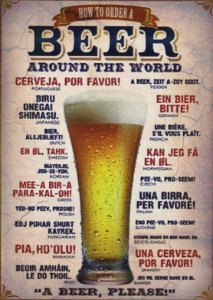 Placa MDF 28 x 20 - Beer Around The World