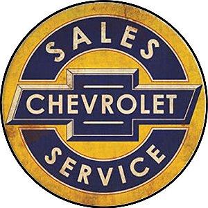 Placa MDF 20 CM - Chevrolet Service