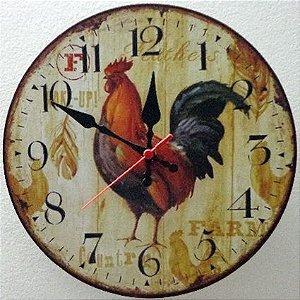 Relógio de Parede Galo com 39 cm