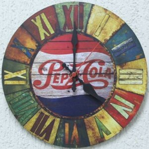 Relógio de Parede Pepsi Cola com 39 cm