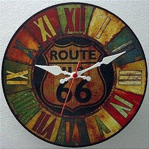 Relógio de Parede Route 66 com 39 cm