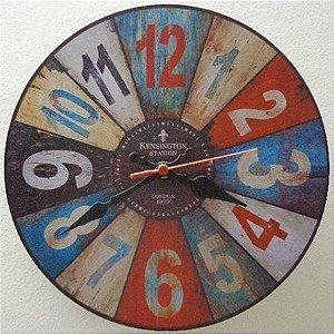 Relógio de Parede Kensington Station London com 49 cm