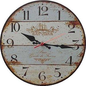 Relógio de Parede Hotel D`Anton Paris com 49 cm