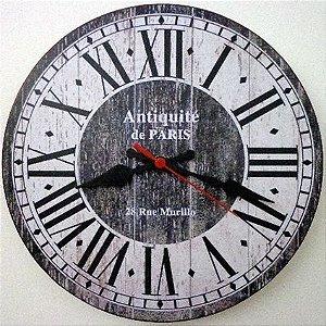 Relógio de Parede Antiquité de Paris com 49 cm