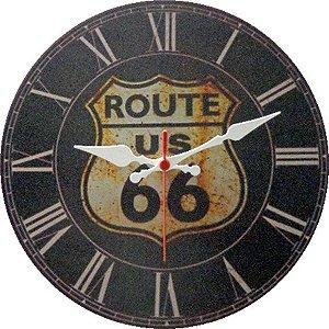 Relógio de Parede Route 66 com 49 cm