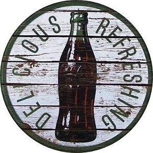 Placa MDF 30 CM - Coca Cola