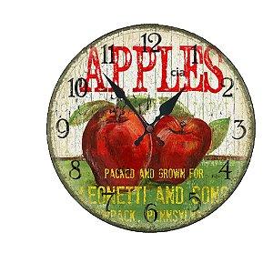 Relógio de Parede Apples com 28 cm