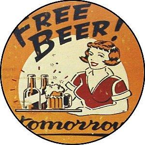 Placa MDF 20 CM - Free Beer