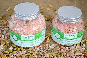 Sais de Banho - Sal Rosa do Himalaya Limão Siciliano e Cardamomo 350g