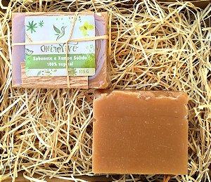 Sabonete e Xampu Sólido - Maracujá/Bacuri/Oliva Óleo Essencial  Capim Limão - Eucalipto - Citronela - 130g