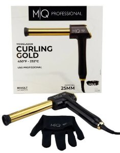 Modelador de Cachos MQ Curling GOLD 25mm Cachos Praticos e Rápidos