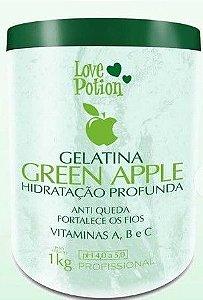 Gelatina Capilar Love Potion  GREEN APLLE HIdratação Profunda fortalecedora dos Fios  1kg