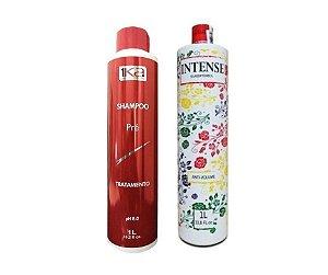 Selagem Térmica 1ka Intense + Shampoo Anti Resíduo Pré Tratamento 2x1000