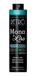 Escova Progressiva Semi Definitiva Mona E Lisa Retrô 1l