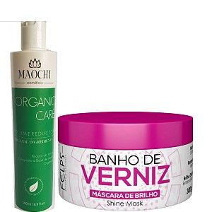 Progressiva Maochi Organica Sem Formol Verde 500ml+B verniz