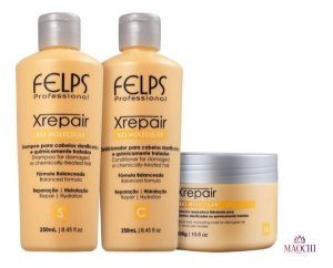 Felps X Repair Shampoo Condicionador 2x250ml E Máscara 300g
