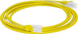 Patch Cord 2,5m cat5e c/ Capa Moldada e Protetora - Amarelo
