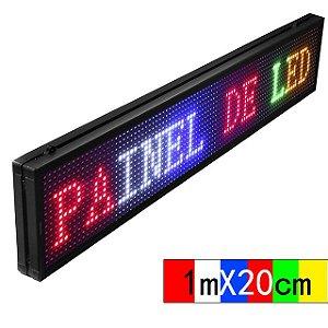 PAINEL DE LED P10 INTERNO USB 100cm*20cm